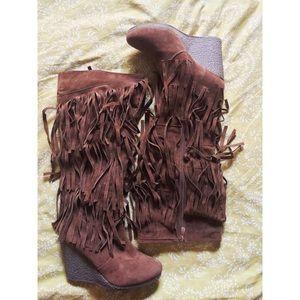 Fringe Boots/Wedges 💕